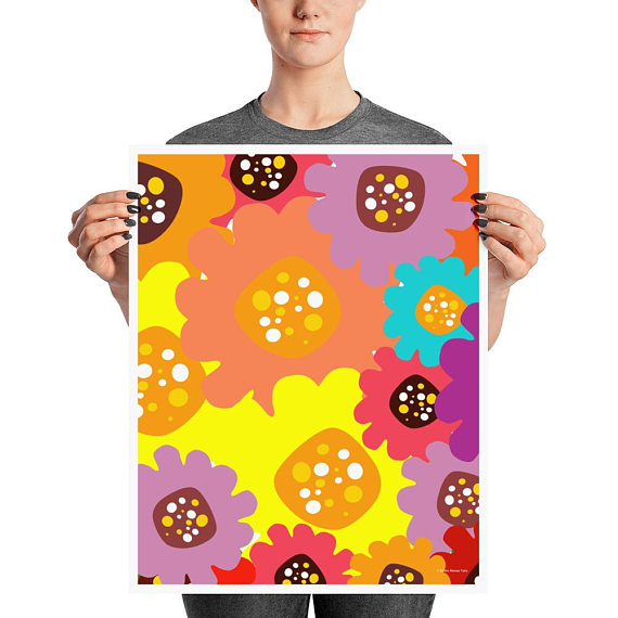 ​Reiko Renee Flower Power Art Print
